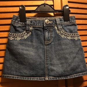 Gap Jean Skirt with Embroidered Stitching